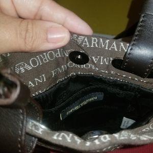 Emporio Armani Bags - Emporio Armani Brown Crossbody bag